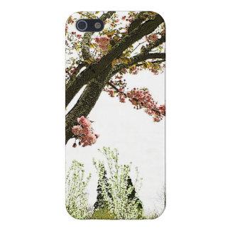 ヴィンテージのスタイルのピンクの桜の木 iPhone 5 CASE