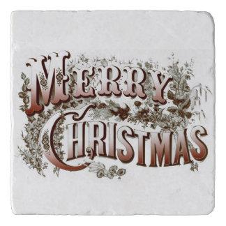 ヴィンテージのスタイルのメリークリスマス トリベット