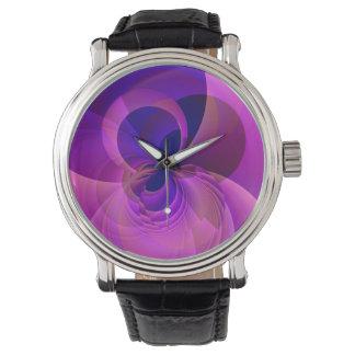 ヴィンテージのスタイルのモダンの抽象芸術のNumberless腕時計 腕時計
