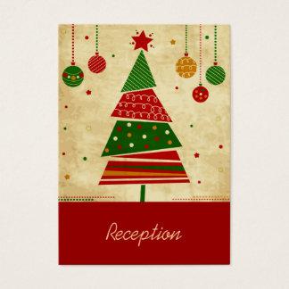 ヴィンテージのスタイルの休日の披露宴カード 名刺