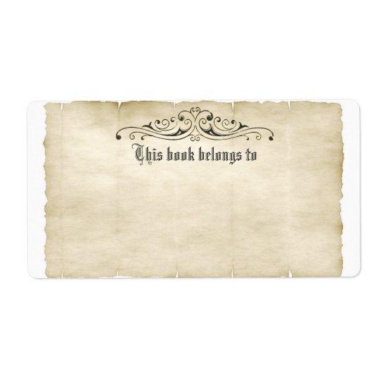 ヴィンテージのスタイルの古い羊皮紙はあなたの一流のラベルを加えます ラベル