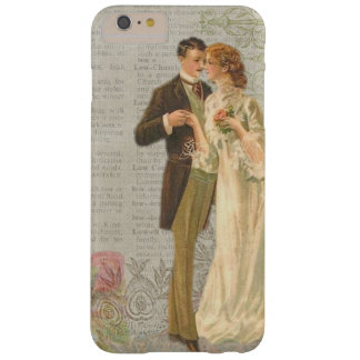 ヴィンテージのスタイルの女性及び紳士のiPhone/iPadの場合 Barely There iPhone 6 Plus ケース