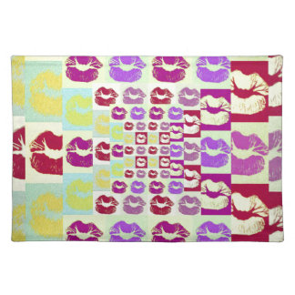 ヴィンテージのスタイルの粋な唇 ランチョンマット