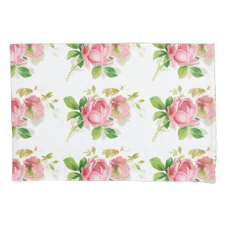 ヴィンテージのスタイルの色彩の鮮やかなピンクのバラ 枕カバー