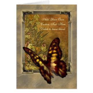 ヴィンテージのスタイルの蝶イラストレーション カード