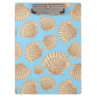 ヴィンテージのスタイルの貝殻パターン クリップボード