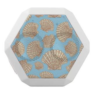 ヴィンテージのスタイルの貝殻パターン ホワイトBluetoothスピーカー