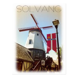 ヴィンテージのスタイルのSolvangの郵便はがき! ポストカード