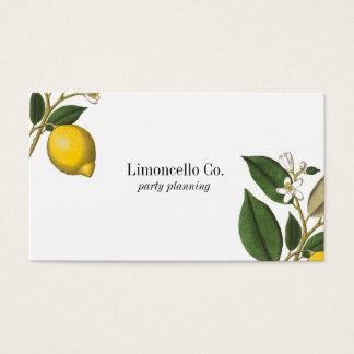 ヴィンテージのスタイルレモン植物のプリントの名刺 名刺