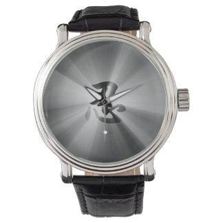 ヴィンテージのスタイルNINの漢字の腕時計の黒の星の破烈 腕時計