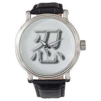 ヴィンテージのスタイルNINの漢字の腕時計 腕時計