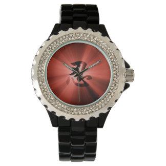 ヴィンテージのスタイルNINの漢字の赤い星の破烈 腕時計