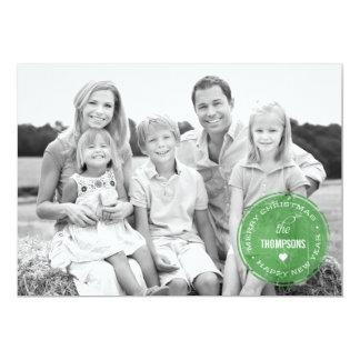 ヴィンテージのスタンプの休日の写真カード カード