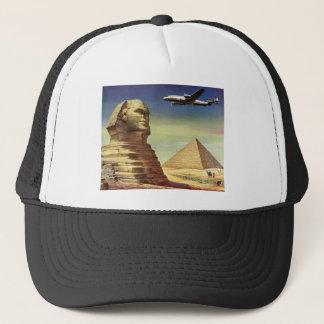 ヴィンテージのスフィンクスの飛行機の砂漠のピラミッドエジプトギーザ キャップ