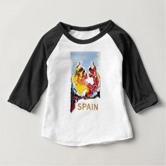 ヴィンテージのスペインのフラメンコのダンサー旅行ポスター ベビーTシャツ