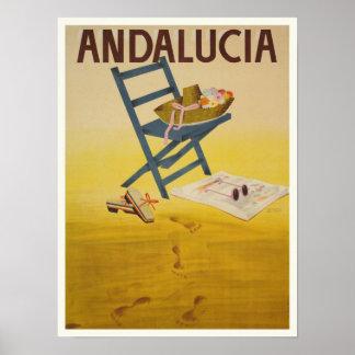 ヴィンテージのスペインのプリントが付いているポスター ポスター