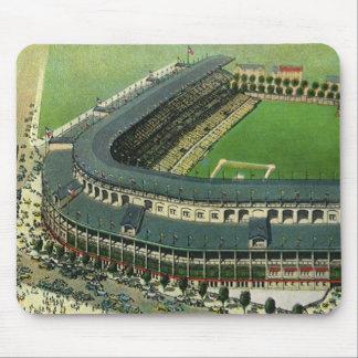 ヴィンテージのスポーツの野球場、空中写真 マウスパッド