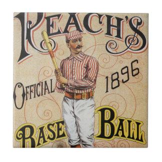 ヴィンテージのスポーツ野球、範囲のガイドカバー芸術 タイル