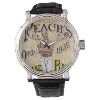 ヴィンテージのスポーツ野球、範囲のガイドカバー芸術 腕時計