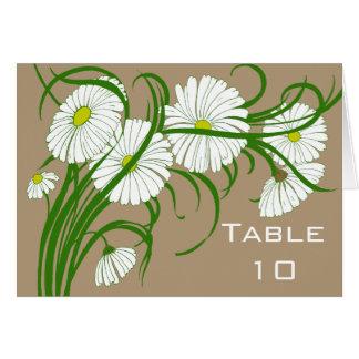 ヴィンテージのセットを結婚する白いガーベラのデイジーの花 カード