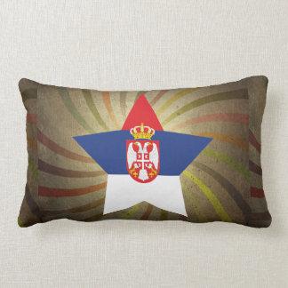 ヴィンテージのセルビアの旗の渦巻 ランバークッション