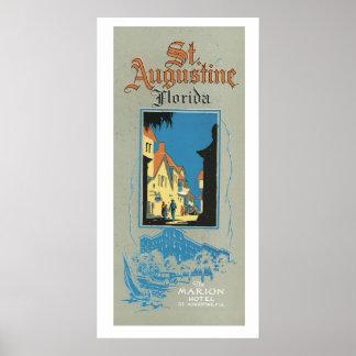 ヴィンテージのセントオーガスティンフロリダ旅行広告の芸術ポスター ポスター