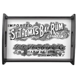 ヴィンテージのセントトーマスのベーラムの広告のロゴのラベル トレー