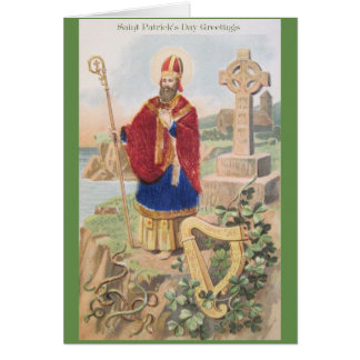 ヴィンテージのセントパトリックの挨拶状 カード