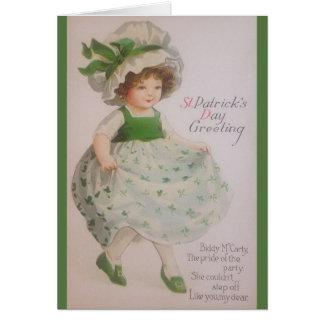 ヴィンテージのセントパトリックの日の挨拶状 カード