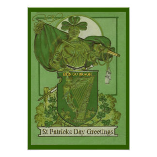 ヴィンテージのセントパトリックの日ポスター ポスター