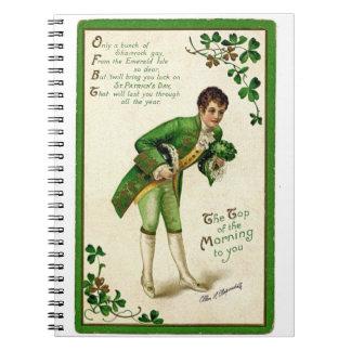 ヴィンテージのセントパトリック日の挨拶の伝統的な人 ノートブック