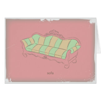 ヴィンテージのソファー カード