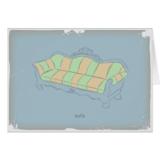 ヴィンテージのソファー グリーティングカード