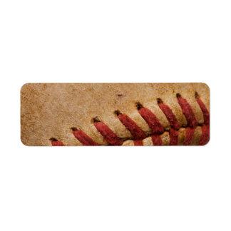 ヴィンテージのソフトボールのクローズアップによってカスタマイズテンプレート ラベル
