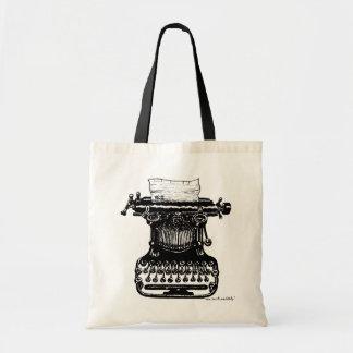 ヴィンテージのタイプライターのグラフィックアートのバッグのデザイン トートバッグ