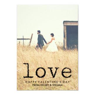 ヴィンテージのタイプライターの文字愛写真のバレンタイン カード