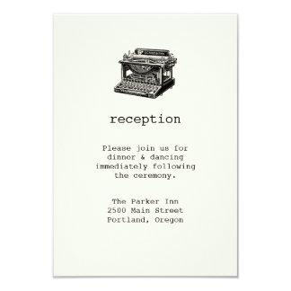 ヴィンテージのタイプライターの結婚披露宴カード カード