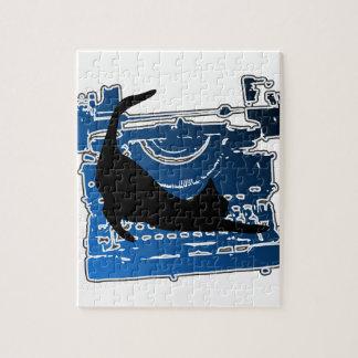 ヴィンテージのタイプライターのCAT ジグソーパズル