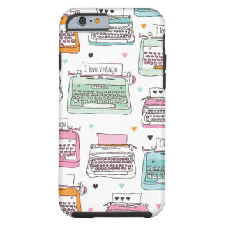 ヴィンテージのタイプライターパターン芸術のiPhone6ケース ケース