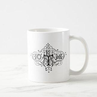ヴィンテージのタイポグラフィの家の原稿 コーヒーマグカップ