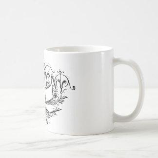 ヴィンテージのタイポグラフィ式の原稿 コーヒーマグカップ