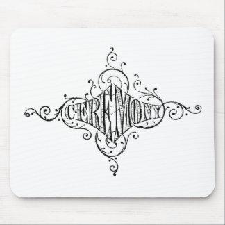 ヴィンテージのタイポグラフィ式の結婚式の原稿 マウスパッド
