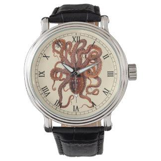 ヴィンテージのタコのカンガルー属、海洋の水生動物 腕時計