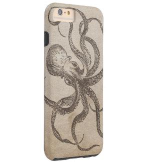 ヴィンテージのタコの海の生き物の海の生命古い紙 TOUGH iPhone 6 PLUS ケース