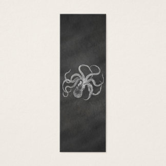 ヴィンテージのタコの黒板の背景のテンプレート スキニー名刺