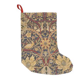 ヴィンテージのタペストリーの花の生地パターン スモールクリスマスストッキング