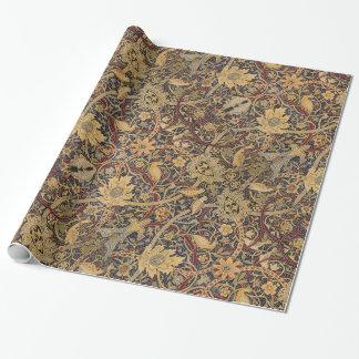 ヴィンテージのタペストリーの花の生地パターン ラッピングペーパー