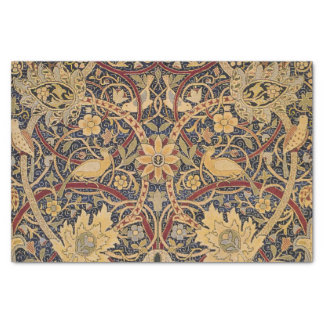 ヴィンテージのタペストリーの花の生地パターン 薄葉紙