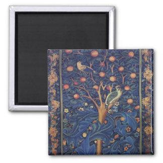 ヴィンテージのタペストリーの鳥の花柄のキツツキ マグネット
