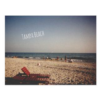ヴィンテージのタンパのビーチの郵便はがき ポストカード